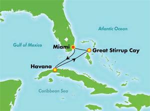 Cuba Cruise Map