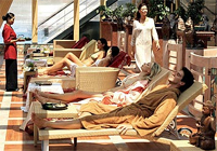 Costa guests relaxing at the Spa